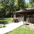 Picnic shelter at Eben G. Fine Park.- Eben G. Fine Park