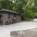 Restroom facilities at Eben G. Fine Park.- Eben G. Fine Park