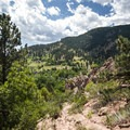 View south of Flagstaff Mountain.- Red Rocks Trail