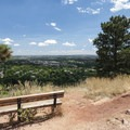View east to Boulder from Red Rocks.- Red Rocks Trail