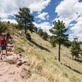 Hike up the Mount Sanitas Trail.- Mount Sanitas Trail