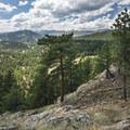 View west near the summit of Mount Sanitas.- Mount Sanitas Trail