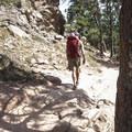 Return hike on the Mount Sanitas Trail.- Mount Sanitas Trail
