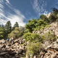 Talus field along the Royal Arch Trail.- Royal Arch Hike