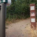 Bonneville Shoreline Trailhead marker.- Bobsled