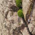 Climber on the West Ridge in Eldorado Canyon State Park.- Eldorado Canyon State Park