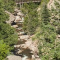 View of South Boulder Creek from the Fowler Trail.- Eldorado Canyon State Park