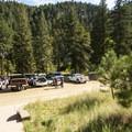 Main parking area in Eldorado Canyon State Park.- Eldorado Canyon State Park