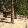 Restroom facilities adjacent to the ranger station in Eldorado Canyon State Park.- Eldorado Canyon State Park
