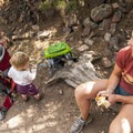Taking a break on Fowler Trail.- Fowler Trail