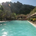 Eldorado Springs Pool with Shirt Tail Peak in the distance.- Eldorado Springs Pool
