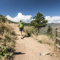 Hiking from the trailhead at Windy Saddle. - Lookout Mountain Trail