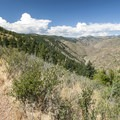View north from Lookout Mountain Trail across the Clear Creek Valley.- Lookout Mountain Trail