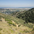 View east from the Windy Saddle Trailhead.- Lookout Mountain Trail