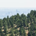 View of downtown Denver from the Windy Saddle Trailhead.- Lookout Mountain Trail