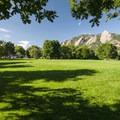 Chautauqua Park with a view of Boulder's Flatirons.- Chautauqua Park + National Historic Landmark