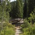 Bridge over the Little Cottonwood River.- Secret Falls Trail
