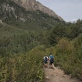 Hikers heading home.- Secret Falls Trail