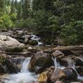 The stream below the waterfall.- Secret Falls Trail