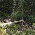 The small bridge toward Red Pine. Don't cross the bridge; head toward the left from here.- Secret Falls Trail