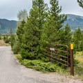 Campground entrance. - Peak One Campground