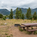 The campground is quiet, but the town of Frisco is only a ten-minute drive away.- Peak One Campground