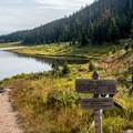 Beginning of the Ute Trail near Poudre Lake.- Peak 12,150 Hike