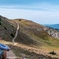 Taking a break on the climb.- Peak 12,150 Hike