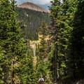 The road is just visible down below.- Peak 12,150 Hike