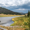 Poudre Lake after the hike.- Peak 12,150 Hike