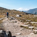 The trail starts above the tree line.- Ute Trail Hike to Timberline Pass