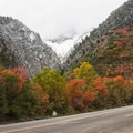The view just across from Tanners Flat Campground.- Scenic Highway 210