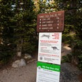 Long Lake Trailhead. Be aware of wildlife in the area, which include moose, mountain lion, bear, and mule deer, among others.- Long Lake, Lake Isabelle + Pawnee Pass