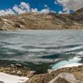 Helen Lake lies to the south of Muir Pass.- John Muir Trail Section 3