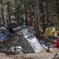 Camping at Wallace Creek.- John Muir Trail Section 4