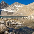The view looking south toward Junction Peak and Forester Pass.- John Muir Trail Section 4