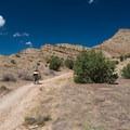 Treking up to the top of the trail.- 18 Road Mountain Bike Trails: Joe's Ridge
