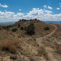 A view of the fun to come.- 18 Road Mountain Bike Trails: Joe's Ridge