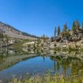 Dollar Lake near the scenic Rae Lakes Basin.- John Muir Trail Section 4