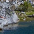 Fishing at Kearsage Lake.- John Muir Trail Section 4