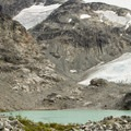 Just a few years ago Wedgemount Glacier reached the edge of the lake. - Wedgemount Lake Hike