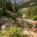 Steep climbing near the top.- Wedgemount Lake Hike