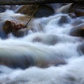 Water in motion in a stream on the way up to Mount Evans.- Mount Evans + Mount Goliath