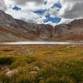 Summit Lake.- Mount Evans + Mount Goliath