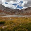 Summit Lake.- Mount Evans + Mount Goliath