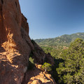 View from Garden of the Gods looking south toward Almagre Mountain (12,367 ft).- Garden of the Gods National Natural Landmark