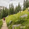 Diamond Lake Trail in the Indian Peaks Wilderness.- Diamond Lake