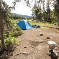 One of 10 backcountry campsites at Diamond Lake.- Diamond Lake