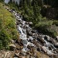 Small cascading creek along the Arapaho Pass Trail.- Diamond Lake