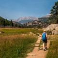 Most of the trail is pretty flat.- The Pool + Cub Lake Loop Hike